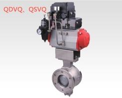 气动V型调节球阀